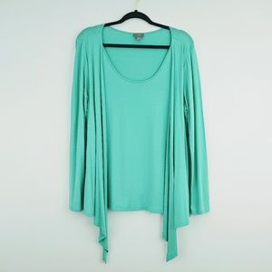J. Jill Wearever Collection Layered Top Medium